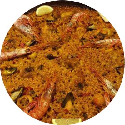 10. Paella de pescado